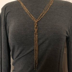 Jewelry - Gold-tone tassel necklace